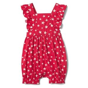 Baby GAP Red Star Bubble Romper Flutter Playsuit